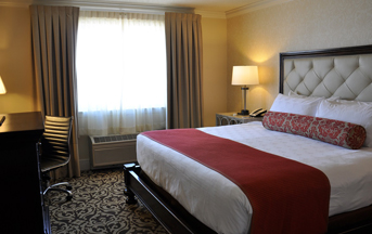 A single suite at the Hershey Lodge