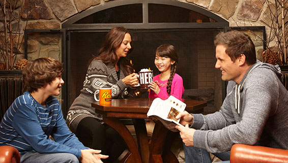 A family at the Hershey Lodge