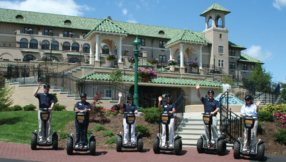 Segway tour at the Hotel hershey