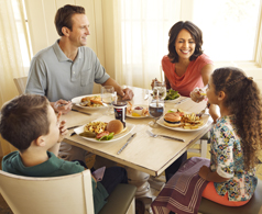 A family dining at the Hershey Lodge